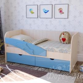 Детская кровать с бортиком Дельфин
